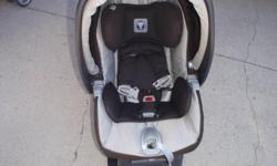 I am selling an excellent used condition Peg Perego Aria twin 60/40 stroller in color mocha java and the matching Primo Viaggio SIP carseat.  The carseat expires in 2015.  Easy to maneuver, light weight stroller with big basket underneath.  Seats recline.