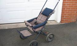Folds up to fit in any car. Comes apart so as to be completely washable. Very sturdy. If interested, please call Peter at 443-0452 before 8pm.   .