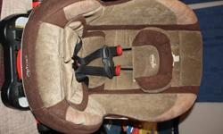 Gently used Evenflo Reclining Carseat. Brown/tan...Retails new $169.99...expires 10/31/2013. $80.00obo