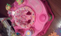 I am selling the Tea for you and Me exersaucer by Evenflo. Gently used in excellent condtion. New Price $35