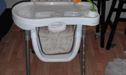 Evenflo high chair for sale! Great condition. 8 Height adjustments. 3 Recline settings.  Removeable top tray, easy to clean.  Asking $50.00 Please call : 250-353-2342