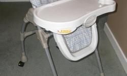 Adjustable height, collapsible,lockable wheels. Clean.