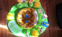 Farm theme all original toys barn lights up and plays music used for 2 children folds up for storage or travel all toys and seat come off for cleaning   Please check out my other ads!   **Ad will be removed when sold**   Thanks for looking :)