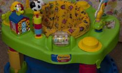 ExerSaucer by Evenflo MEGA Farm Animal theme and is in very good condition. ExerSaucer is easily folder for storage. Please contact Jeff or Monica at 519-265-0671