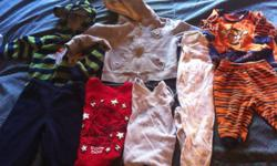 I have a few baby items for sale as seen in the pic id like to sell them as a lot, im asking 25.00 firm there is : 1 -TIGGER long sleeves out fit 1-long sleeves shirt and pants out fit 1- jean jacket and jeans outfit 1- cotton long sleeves and pants