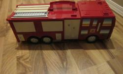 Fire stations opens up or close have carrying handle.Comes with all the figures... from p/s free.Thanks for looking