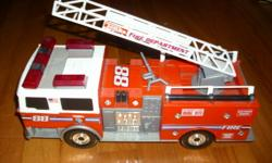 pic#1 FIRE TRUCK                                   $5.00 Battery operated. Realistic sounds pic#2 BARN WITH ANIMALS               $3.00 Battery operated. farm sounds Check out my other ads on this site