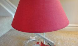 "Firetruck Lamp Ottawa, Ontario EUC, 20"" tall"