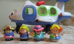 Lights, sounds, talking, and a fun sing-along song help little imaginations take flight while they learn about high and low Little People figures wiggle and wobble as kids spin the wheel, and the easy-carry handle helps pretend flights soar Includes plane
