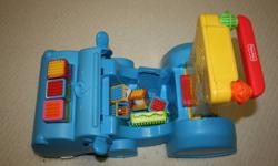"""""""Baby will have hours of fun gobbling up Fisher-Price Peek-a-Blocks with this adorable hippo walker that converts to a ride-on as baby grows"""" - comes with 7 blocks and 2 stackers - great condition   If the ad is still up, the item is still available."""