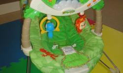 Selling a rainforest bouncy chair, plays music and lights up. Retails for $65.00, needs to go, make an offer!