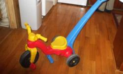 #1 - Fisher Price Tricycle with Removable Parent Handle. Excellent Clean Condition  $30.00   #2 -  Little Tikes Ride-On-Toy Trike Nice Clean Condition Suitable for Toddlers $20.00   #3 - Playskool Ride-On/Learn To Walk & Scooter Toy Use as a ride-on Toy
