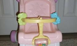I have a FP Brilliant Basics Stroll - Along Walker.  Excellent condition. Asking 20.00 each.  Toy is 1 yr old.   I have a FP Laugh and Learn Fun with Friends Musical Table. Asking 20.00 each.  Toy is 1 yr old.  The paper on the book has some scratches on