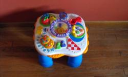Hi! I'm selling a Fisher Price activity table. Plays music, lights up, has removable spoon rattle. Asking $10. Located in Chester Basin but can deliver to Bridgewater.