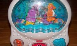 The Fisher Price Ocean Wonders Aquarium is a something every infant or toddler would love in their room for their first aquarium with its colorful insides and the music that can lull them to sleep at night while it also omits a soft light that replaces