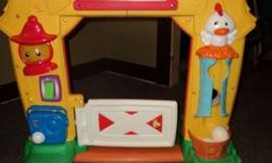 Fisher Price Barn   Lights and Sounds and Activities.   Great shape, everything working and all parts included.   Call Donna or Joel.