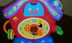 Fisher price learning clock. Sings and talks. Pick up only