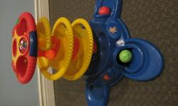 Fun Lights and Sound Fisher Price Ball Game. Drop the ball down the holes and watch the lights, listen the sounds and see where the ball comes out. Comes with 3 balls