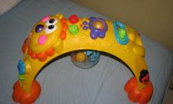 Fisher Price Go Baby Go Cruise Around Lion The mane attraction is activity?and there are busy ones all around this lively lion! From the time baby can sit right through crawling, standing and cruising, there?s lots of fun to explore. And there?s plenty of
