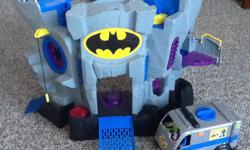 Imaginext sets include: Sky racers carrier and super friends batcave. Additional figurines and smaller complimentary sets included. All in great working order. Preference to sell both for $60. Open to selling individual sets too. See full details: