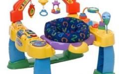 The Fisher-Price Intellitainer is a one-stop interactive entertainment system offering a 360-degree rotating seat so baby can walk back and forth, discovering activities at every turn.   Two modes of play (learning and music) allow baby to hear the