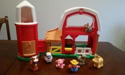 Complete Set - excellent condition. Worth over $50 new. Barn makes cute animal sounds and plays songs.