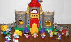 IF YOU ARE READING THIS AD THAN THE ITEM IS STILL AVAILABLE. I have the complete castle set & more.  You get the King, Queen & Princess,  The Knight, The Wizard, the Court Jester, The Woodsman, 1 Dragon, 1 wagon,  3 horses, 1 bed,  1 throne, 2 chairs.