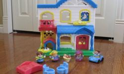 Includes: - Fisher Price Little People House - 4 little people and a baby - 2 chairs - 1 red bed - 1 blue car We are a smoke free home located in Whyte Ridge. If the posting is still up, the item is still available.