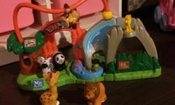 Zoo and animals made by fisher price little people. Please let me know if you have any questions.