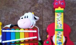 Fisher Price Bach 'n rock guitar transforms from violin to guitar, in like new condition. Fisher Price barnyard piano xylophone, in excellent condition! This ad was posted with the Kijiji Classifieds app.