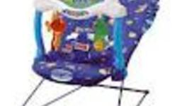 Ocean Wonders? Aquarium Bouncer?  Here?s a chair that soothes baby with the wonders of aquatic sights and ocean sounds! The Fisher-Price Ocean Wonders Aquarium Bouncer features four selections of music & sounds: lullabies, ocean waves, summer rain and