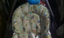 Swings two different ways ( side to side and front to back), plays music and has mobile. In excellent condition and purchased new, only used a couple of times just to see if baby liked it. My newborn was two months early and tiny so she never liked the