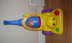 Fisher Price Musical Vacum Cleaner. Fisher Price Musical Number/Alphabet Toy. In great condition....gently used..Asking $6 each or $10 for both if interested...Thanks.