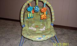 Has 3 toys to play with. Vibration. Smoke and pet free home. $15 OBO Please email or call Jenni or Olaf at 283-7166