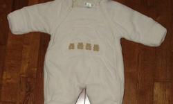 For Sale: Off white baby snowsuit from Children's place. This item is nice and warm and made of fleece. Nice and cozy for baby. Size 6-12 months. Contact Laura at 519 680 0835. Please check out my other ads.