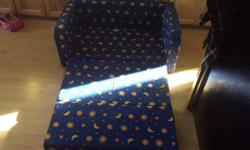 Navy blue with stars, good condition.