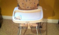 This high chair is excellent for travel as it folds for easy carry and storage