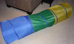 Tunnel is made for crawling around. Promotes the use of your child's imagination, helps develop motor skills and muscle strength. Lightweight and portable. Folds for easy storage. Fun on it's own or part of your child's indoor playground. 5.5 feet long