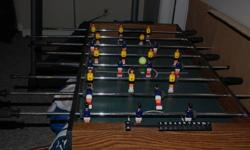 Foosball table in good condition.  $15.00obo.