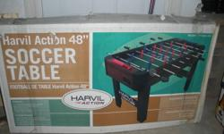 $60.00 OBO. I have a brand new foosball table. It's still in it's original box, never been open. Got as a gift but have no room for it.