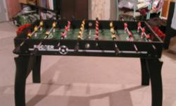 i have a foosball table to sell!! it did not come with nets, so we had to make some, but they are very effective and work just as well. other than that, the game is in great shape. i am also including a pack of four foosballs that has never been opened. i