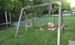 Free. take either or both. 1) 15+ year old swing set. everything works great. Some minor disassembly may be required depending on the size of your pick up. 2) 15+ year old spring toy. works fine although needs some minor repair to one of the handles. This