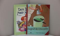 Perfect for grade 2-3 French immersion students. Titles * Ragout de crocodile - single page poems complete with colourful illustrations * Des livres pour Nicolas - short story on the joys of reading Printed in Canada on FSC certified paper. Like new.