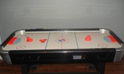 air hockey table for sale...great shape, just need the space in my basement. includes 2 paddles and 3 pucks.