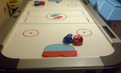 Sportcraft Air Hockey Table 4ft Wide X 7ft Long Works Great $100.00 obo