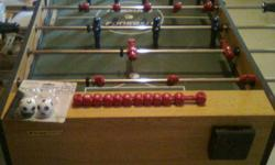 Fullsize Foosball table with cup holders. Very sturdy. Like new. Comes with small soccer balls. Was $250 new. Asking $80   Call 849-4711 or message.   Glace Bay