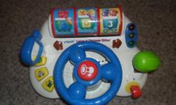Just trying to declutter and want to get these toys out as my son has outgrown them.   VTech  Learn and Discover Driver - $15 Shape & Number Sorter with Zebra Piano (child can play twinkle, twinkle little star) - $10 Backyardigans Saxophone (plays songs &