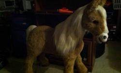 Almost real. Lifelike pony with brush and carrot. Great condition. No cleanup required. This ad was posted with the Kijiji Classifieds app.