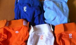 5 pairs of small- cream, two blue, two orange. 5 pairs of large- cream, light green, two orange, turquoise. All in perfect condition. $12 each. They retail for $34.99 for two. This ad was posted with the Kijiji Classifieds app.
