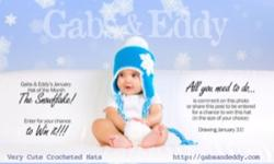I make a variety of handmade crocheted hats and photo props. They make wonderful baby shower gifts, birthday gifts or just a unique addition to your little ones outfit. Please visit www.gabsandeddy.com for a complete listing of my hats and a look at my